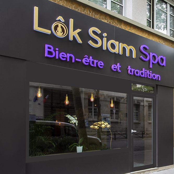 Devanture Lok Siam Spa Auteuil